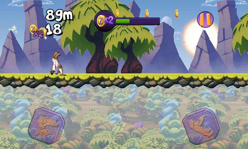 《树懒大冒险 Crazy Lazy Runner》是一款来自德国的横版跑酷类休闲游戏,全球同步发行中。它能让你感受到跑酷、换装、道具攻击和飞行、与好友竞赛等,多样的游戏乐趣。如果你还认为树懒是最慢的动物,那么《树懒大冒险》将让你改变了主意,该游戏使地球上行动最慢的动物通过滑行绳索、粉碎敌人、打扮成猫王或使用火箭助推器飞行等,推动自己一路飞奔。这还是一个永无止境的游戏,你还可以与朋友互动游戏,运行道具给朋友设置障碍,尽可能打破朋友和自己的最高得分! 【游戏特点】 -能与好友互动游戏,进行分数比拼,看看谁更