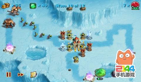 这款塔防游戏使用21世纪的手机游戏模式来创造一个